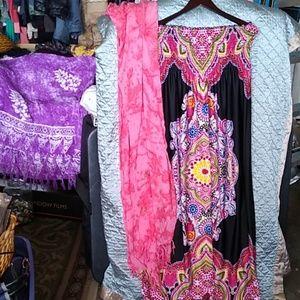 Size large bongo dress with extra large Shaw
